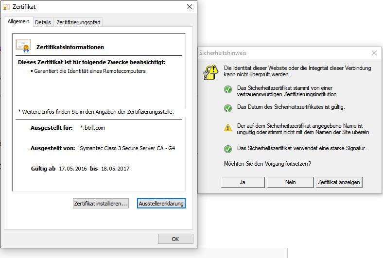 btrll.com certificate message | Norton Community