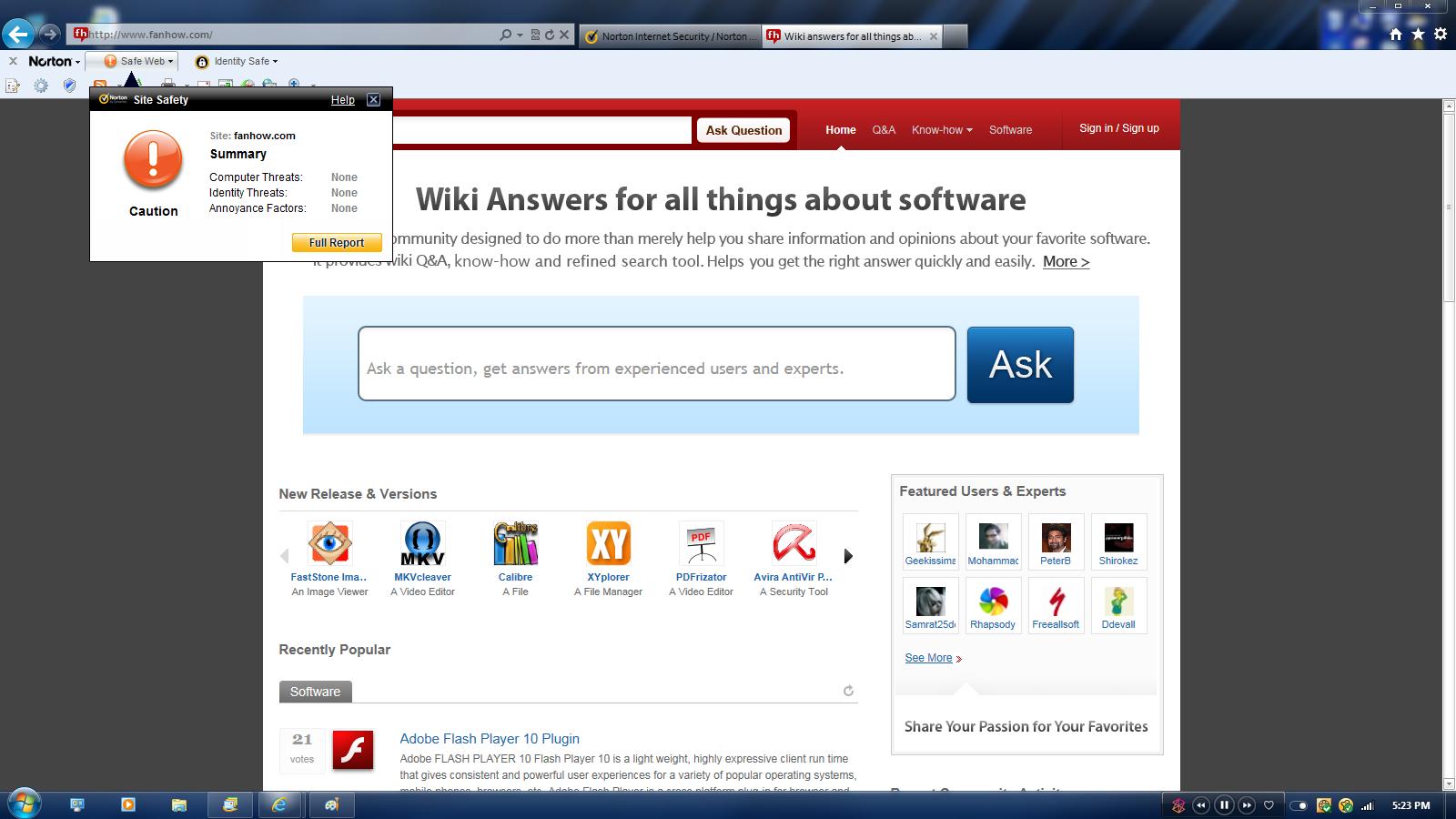 Norton Safeweb Site Rating Vs Nis Toolbar Amp Search