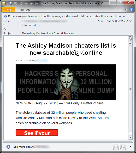 Dating site breach
