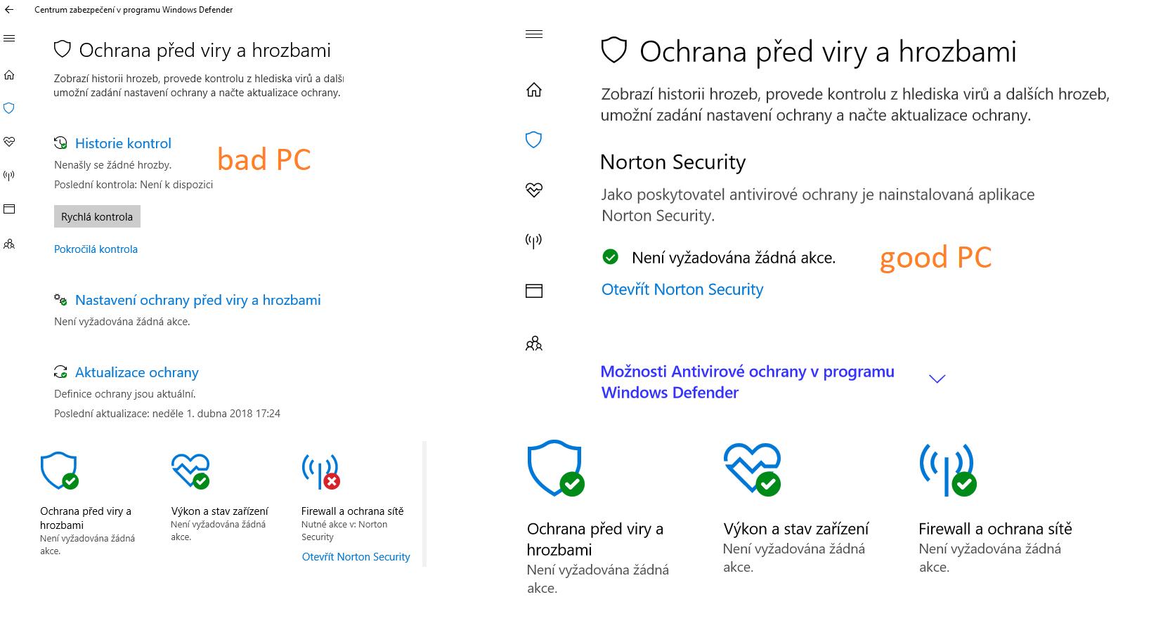 Windows defender still active | Norton Community
