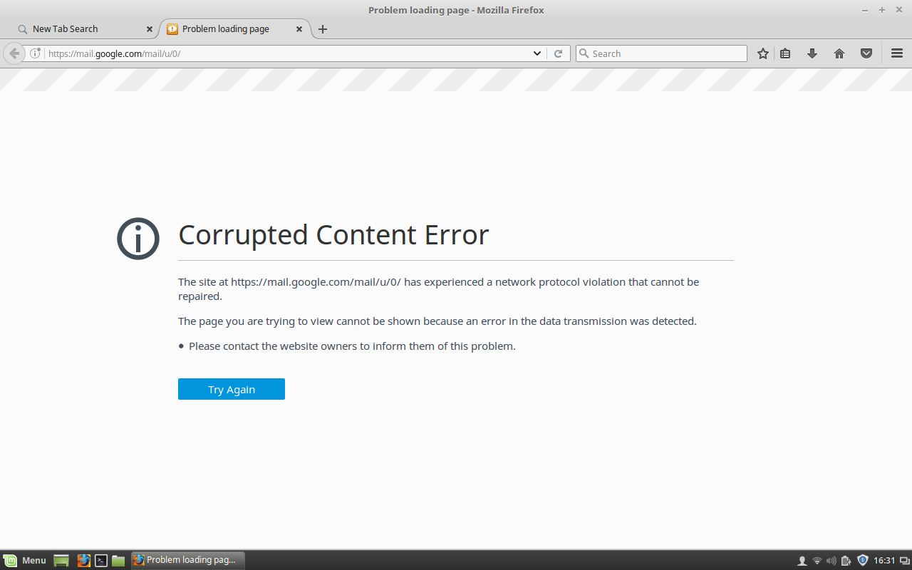 Corrupted Content Error