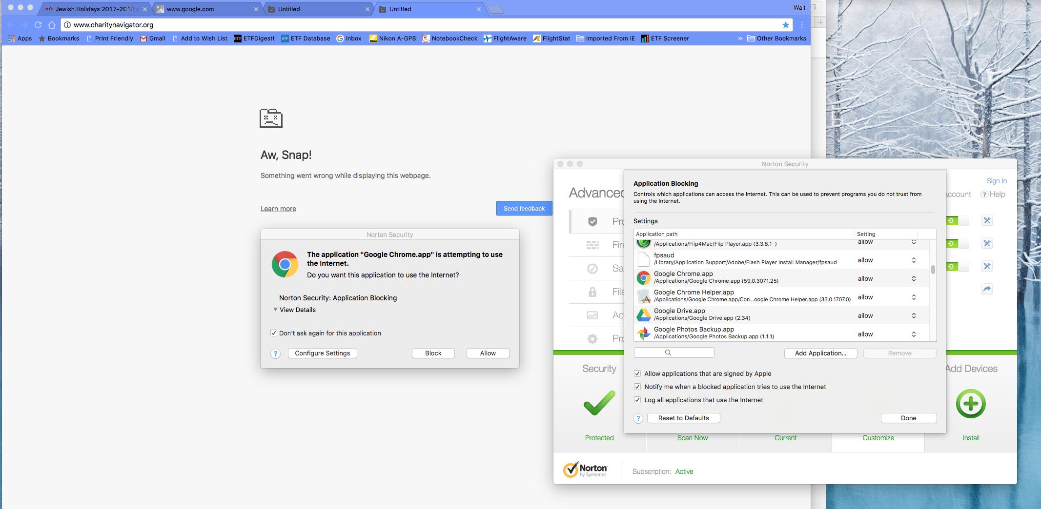 Application Blocking on MAC | Norton Community