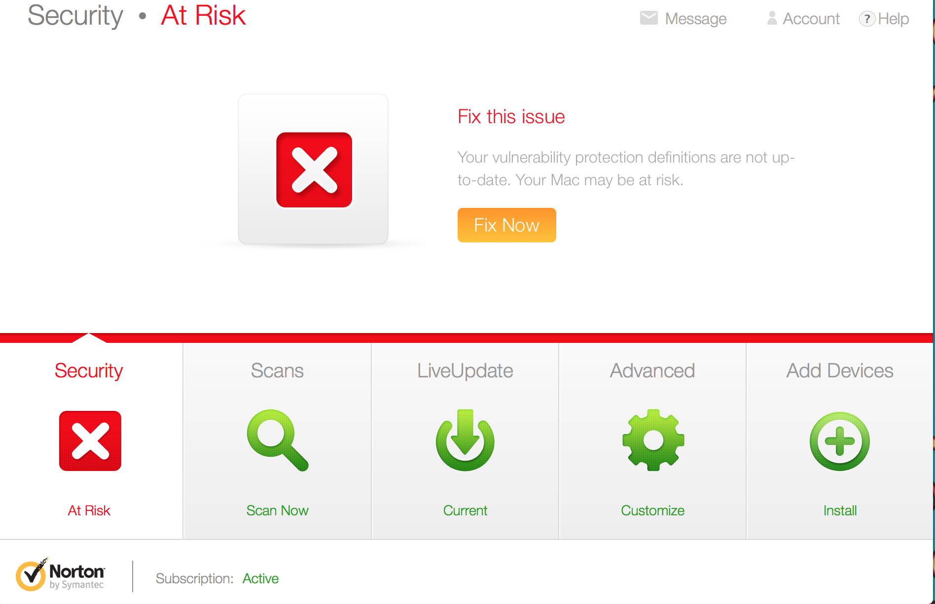 security: at risk (fix now) | norton community