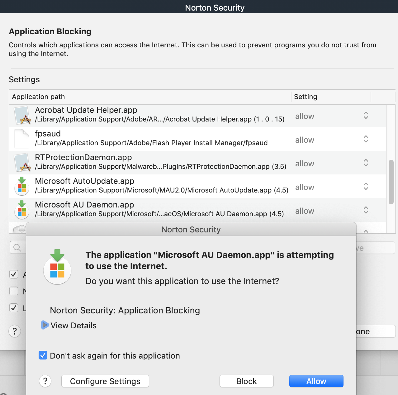 Firewall Application Blocking -