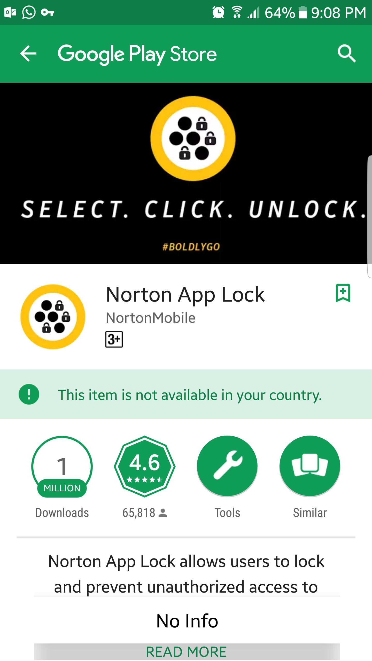 Resultado de imagen para Norton App lock: