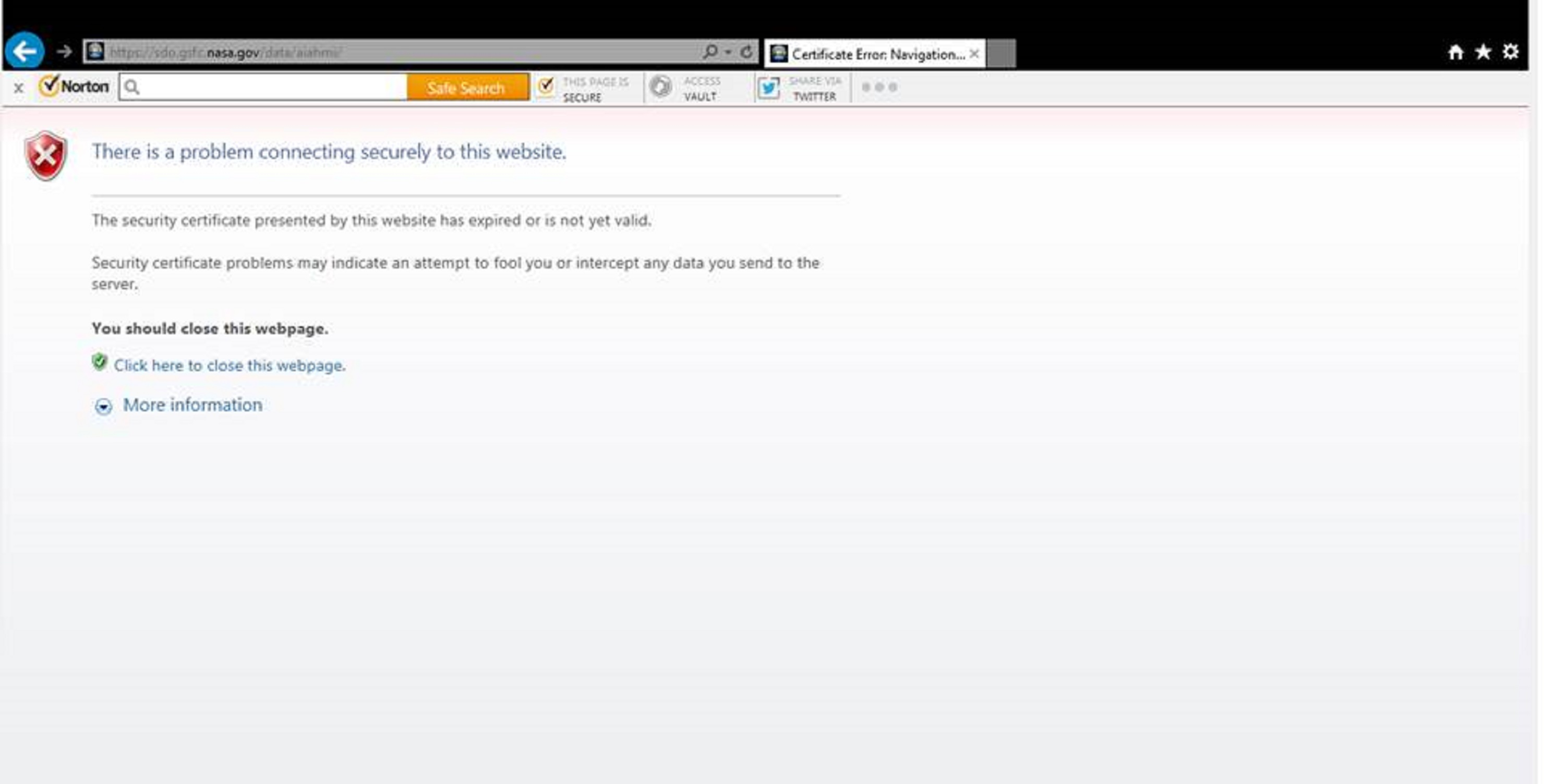 Certificate error navigation blocked at a website norton oct14 2017sdopngg 1betcityfo Image collections