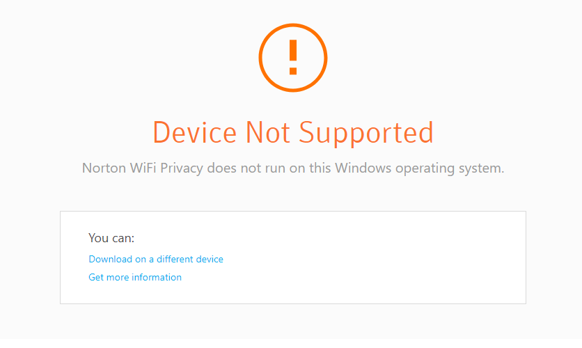 WiFi Privacy subscription only supports Android or iOS