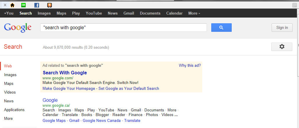 Safer Web Search