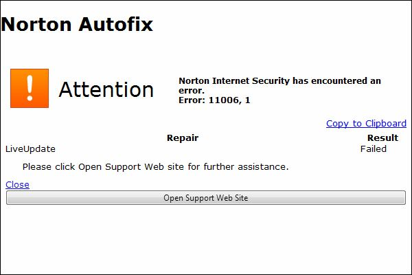 Norton 360 error 8504