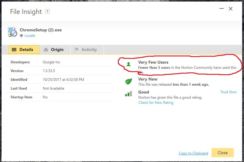 File Insight for Chrome setup, less than 5 users | Norton Community
