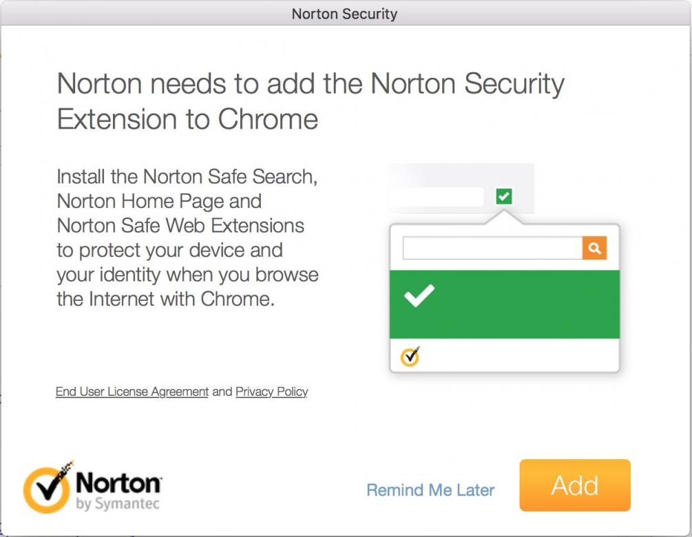 Browser addon notification | Norton Community