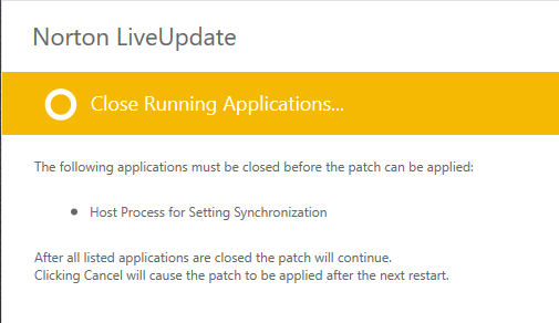 Error applying patch   norton community.