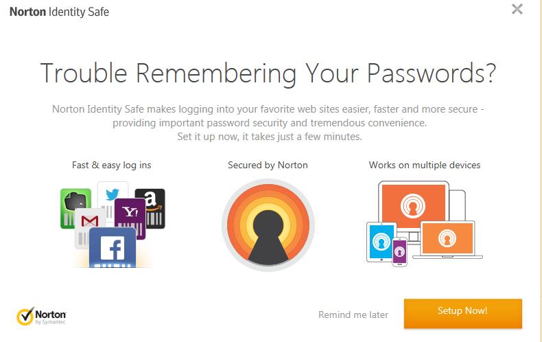 Pop-up to install Identity Safe in Internet Explorer 11