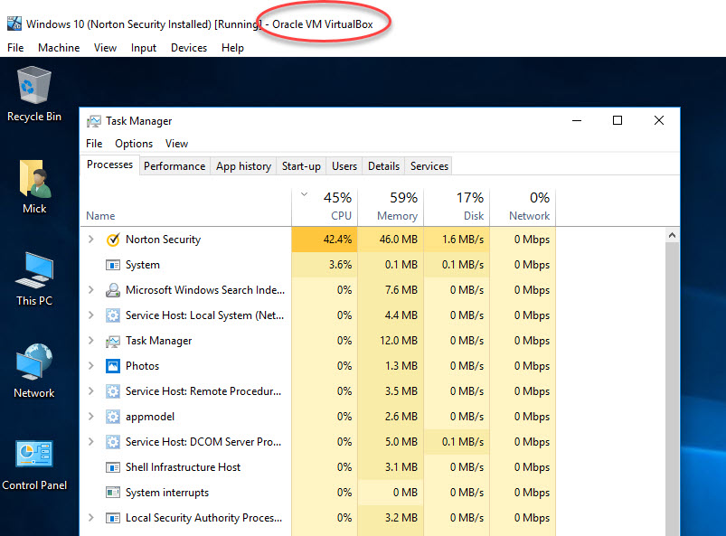 CPU Usage about 30%   Norton Community
