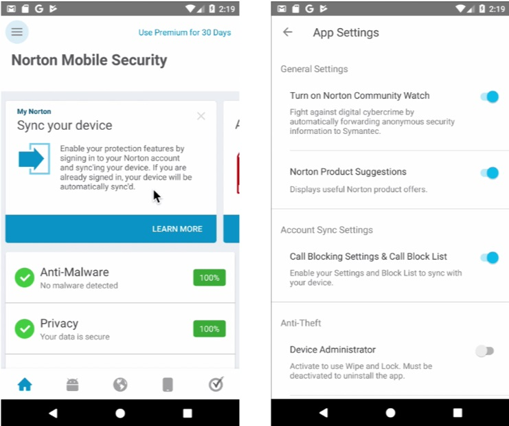Norton Mobile Security 4 5 for Android is now available