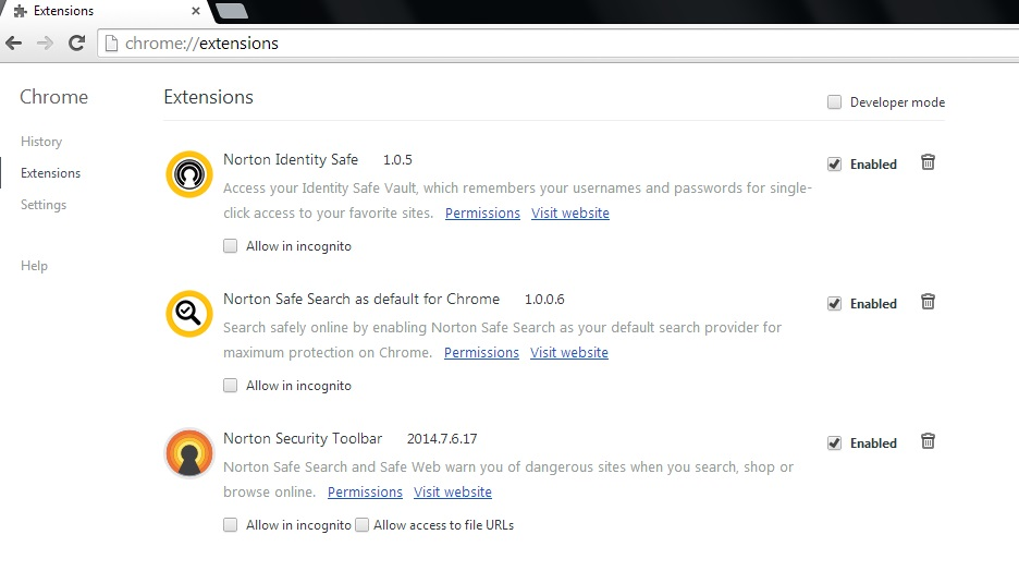 Extension Updates for Norton Toolbar on Google Chrome   Norton Community