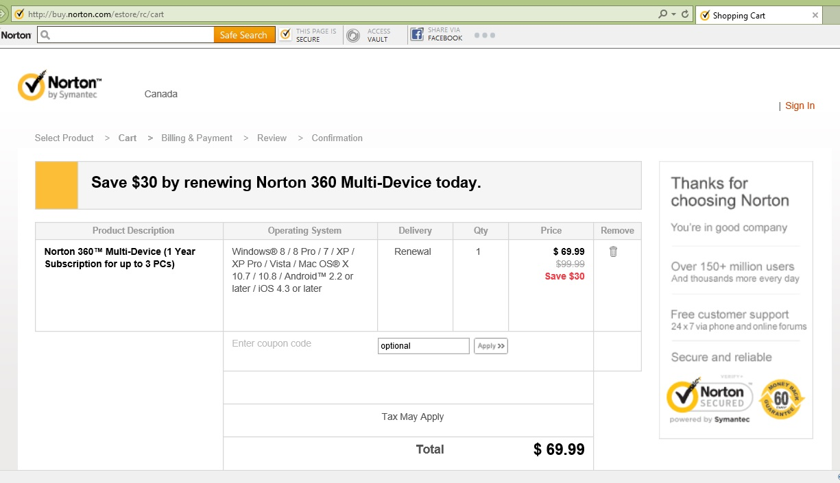 Norton renewal coupon code