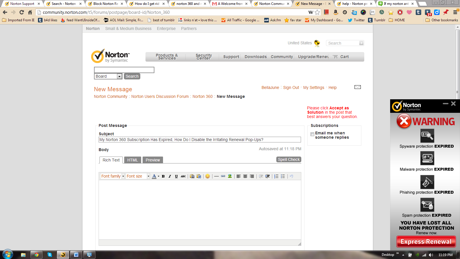 My Norton 360 Subscription Has Expired, How Do I Disable the