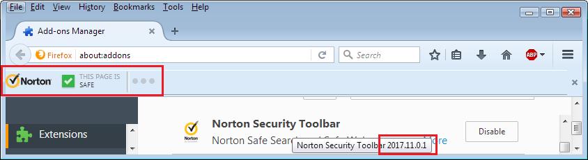 Norton toolbar in firefox | Norton Community