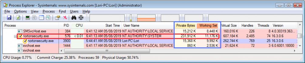 Norton Security Memory Usage Difference   Norton Community