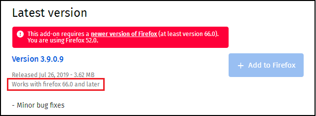 Glitch with new FF Safe Web 3 8 0 6 on FF 52 9 0 | Norton