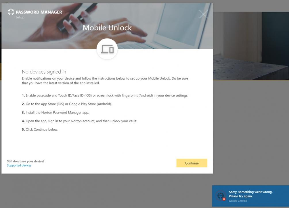 Norton Password Manager Add a Mobile Device | Norton Community