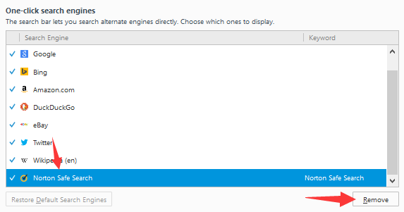 Norton Safe Search Just Remained In Firefox S 1 Click Engines List One Needs 2 Erase Nss There Manually