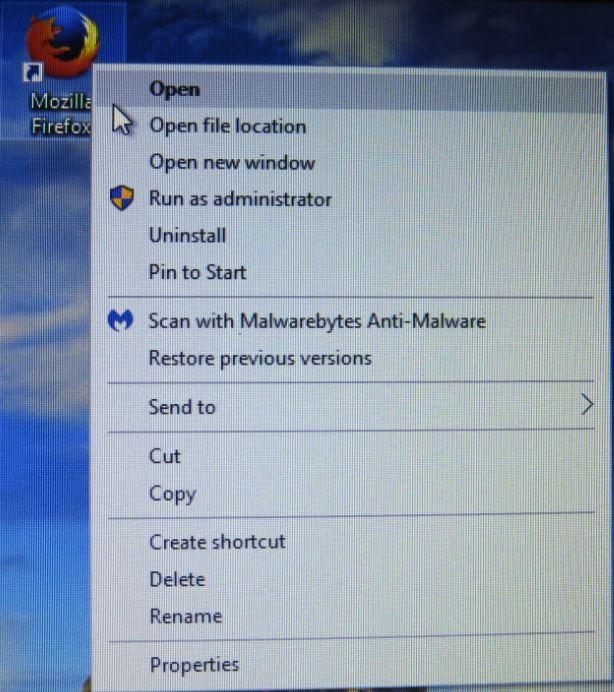 cannot pin shortcut to start menu windows 10