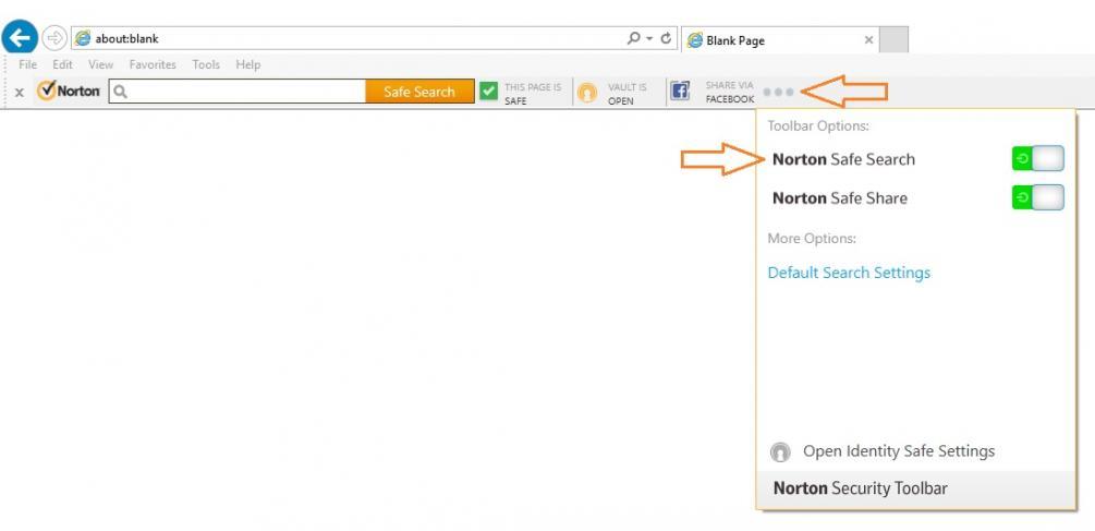 Safe Search Box Missing on Internet Explorer 11 | Norton ...