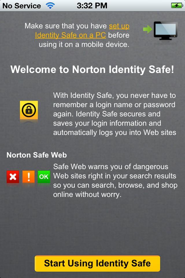 norton identity safe goes mobile beta norton community. Black Bedroom Furniture Sets. Home Design Ideas