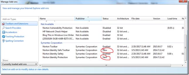 Internet explorer 11 , freezes whith Norton toolbar | Norton