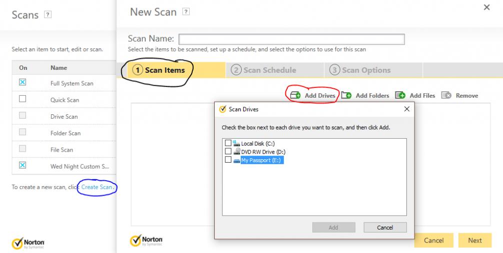 Custom scan not working   Norton Community