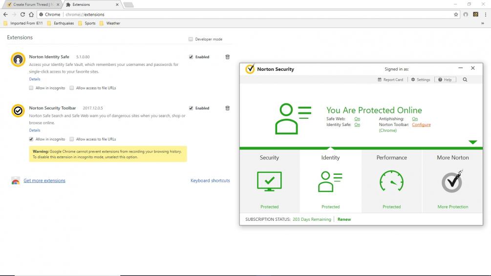 Norton Toolbar: Configure (Chrome) -- what?? | Norton Community
