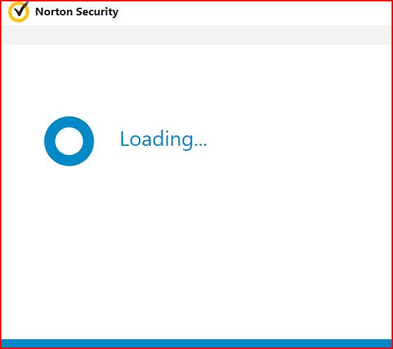 Blue circle and Loading    | Norton Community