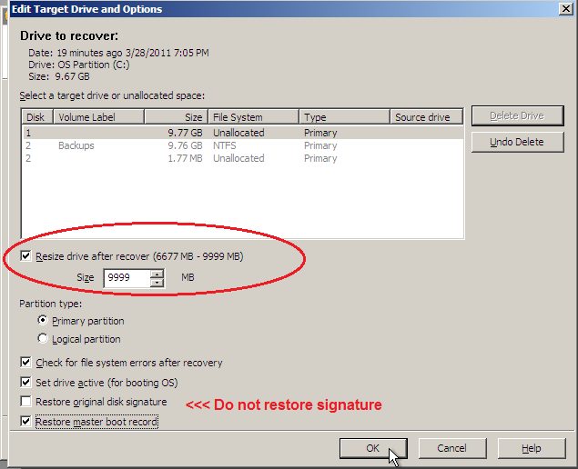 How to remove Windows 7 SRP during a Ghost restore