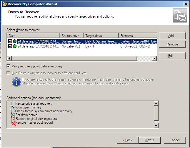 Ghost 15 - Restoring Image Backup to new hard drive | Norton Community