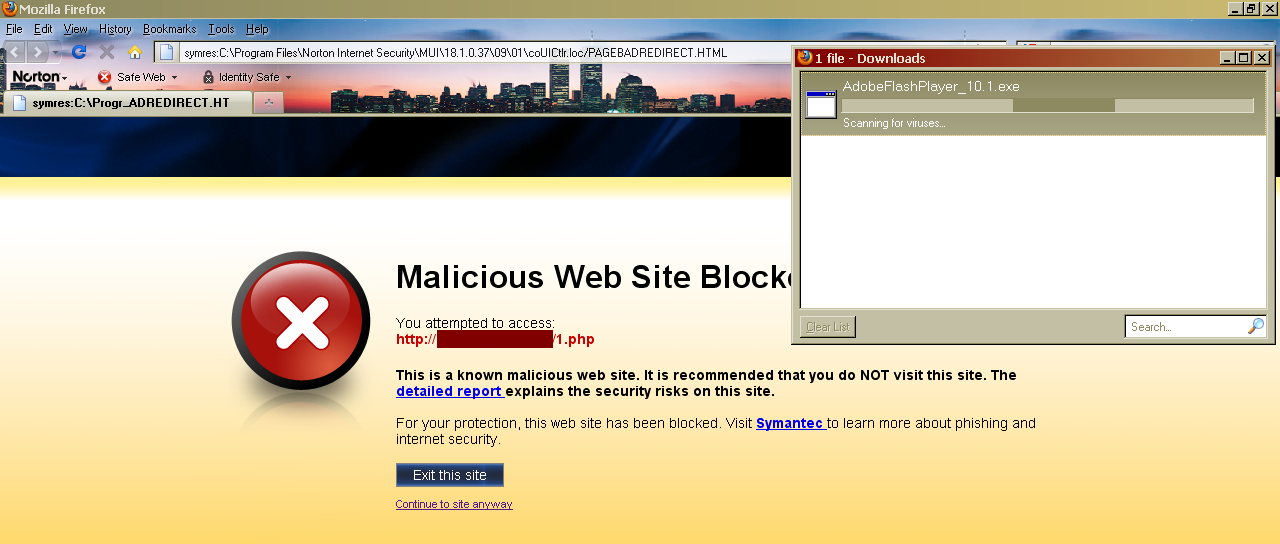 NIS 2011 allows downloads from malicious sites | Norton Community