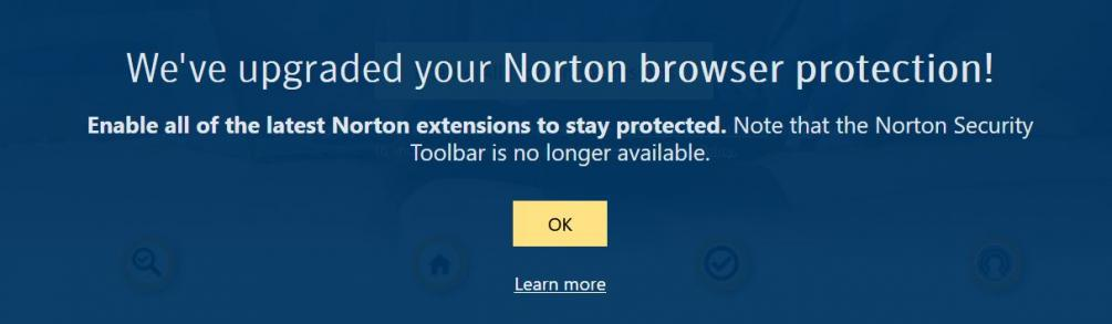 Norton Security Toolbar as Legacy Extension in Firefox