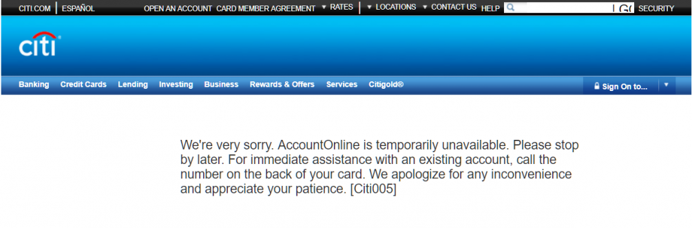 Citicards Account Online >> Can T Log In To My Citicard Account Flagged As Known Fraudulent