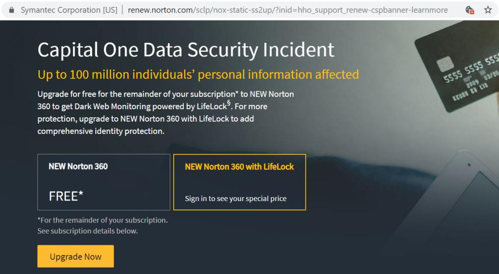 Free Upgrade to Norton 360 Premium | Norton Community