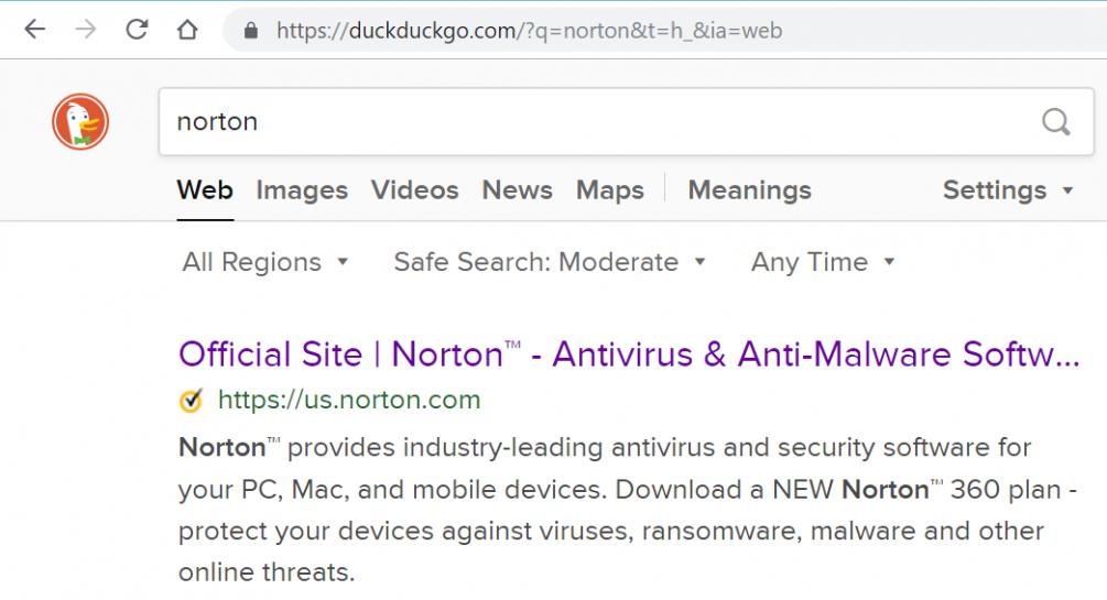Duckduckgo com | Norton Community