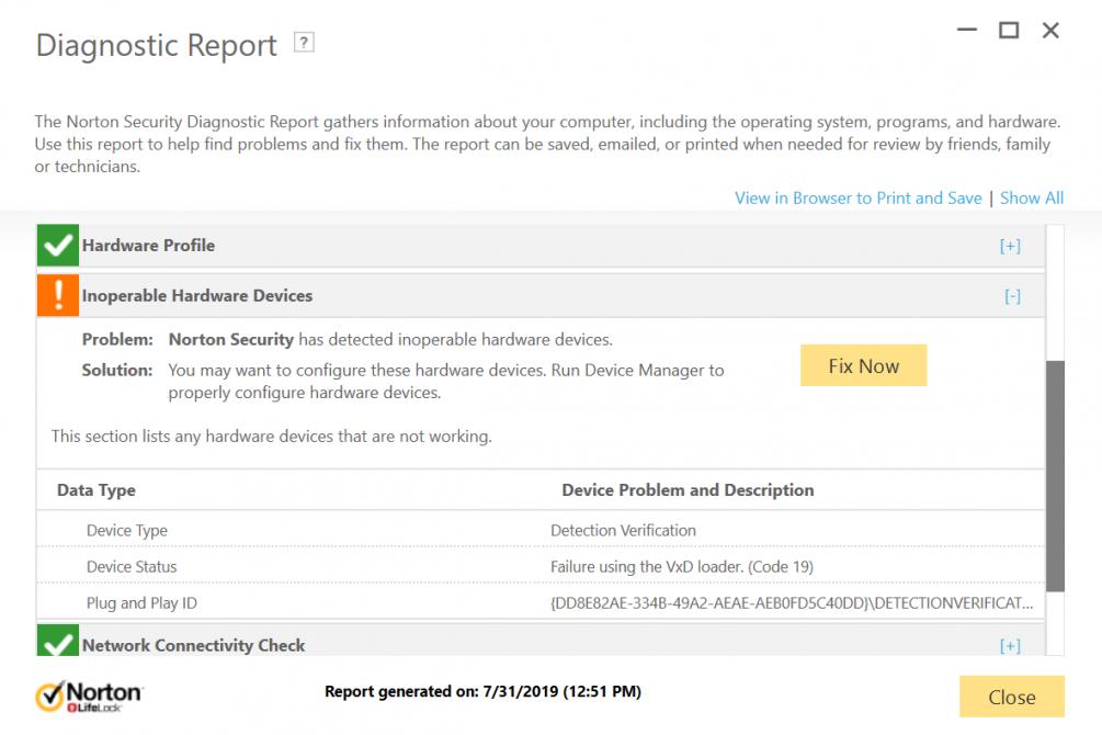 Diagnostic Report - EAP 22 18 0 213 | Norton Community