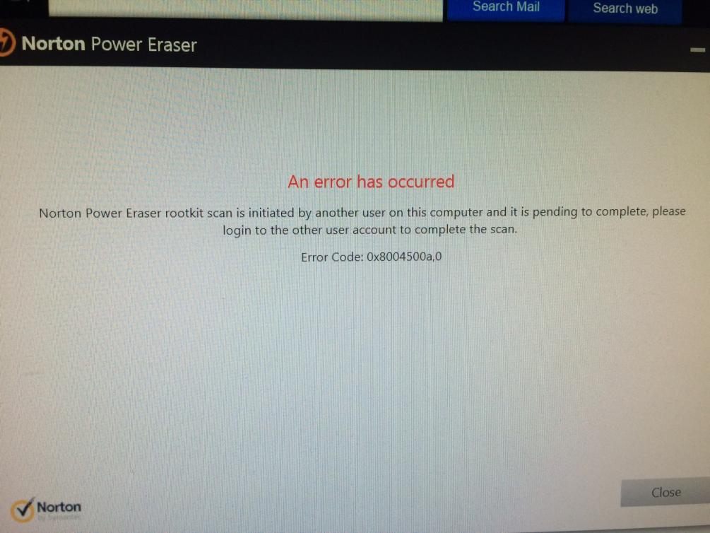 Image result for Norton Power Eraser error