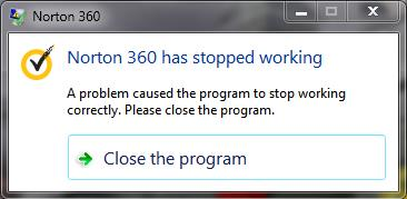 PC starts up, after 15 seconds (roughly) the first crash notification comes  through ...