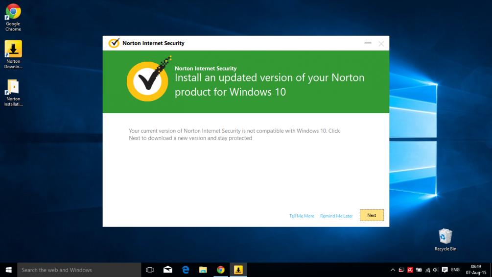 Cant get rid of splash screen re Windows 10  Norton Community