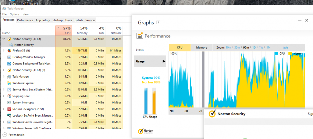 Norton Security causing high CPU Usage | Norton Community