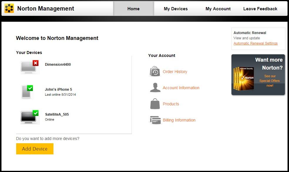 Amazon.com: Norton 360 Multi-Device 2014 - 1 User / 5 Devices [Old ...