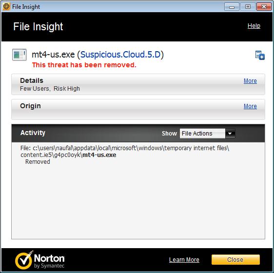 Metatrader 4 - ibfx | Norton Community