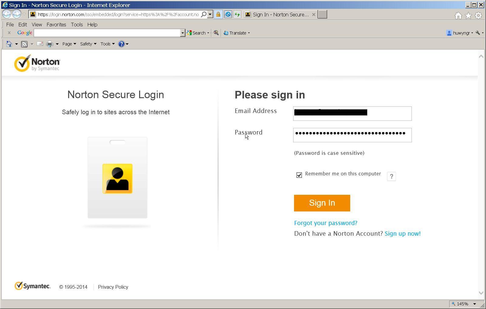 Norton Account-Sign-in error | Norton Community