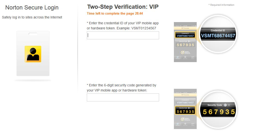 How to change my VIP access Credential ID | Norton Community